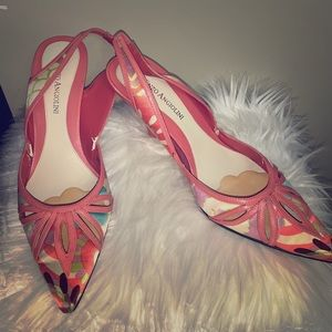 🚨Enzo Angiolini strappy colorful shoes size 8.5